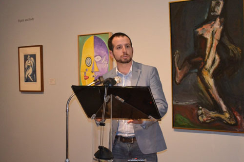Roman Skaskiw reading at Ukrainian Institute of Modern Art in Chicago
